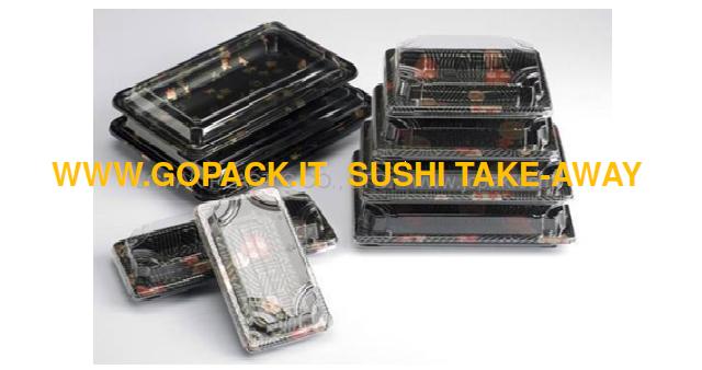 Vaschette per sushi take away go pack di giuseppe odelli for Vassoi assorbenti
