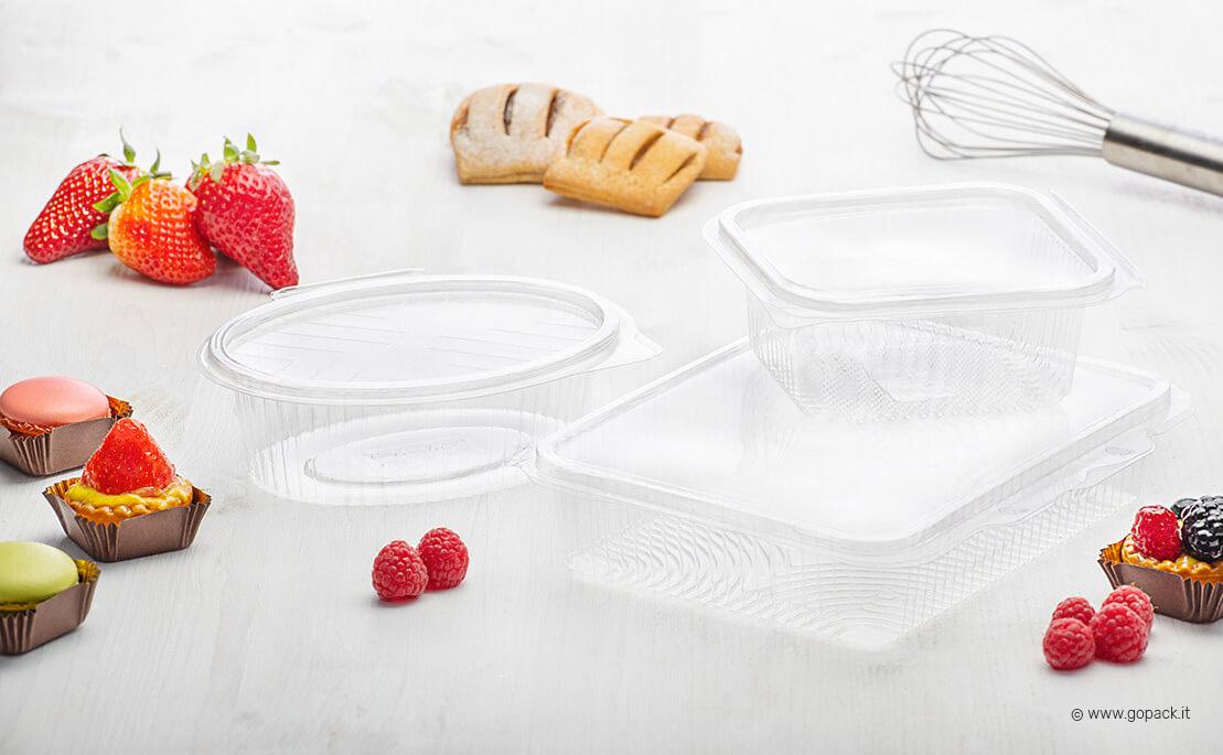 vaschette trasparenti con coperchio